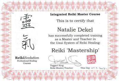 Natalie Dekel - Reiki Mastership