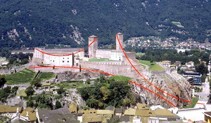 Felice Varini - Castellgrande