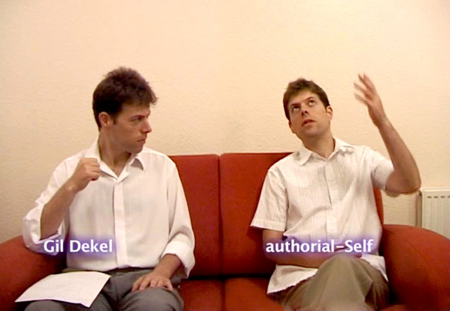 Gil Dekel interviews the 'authorial-Self'