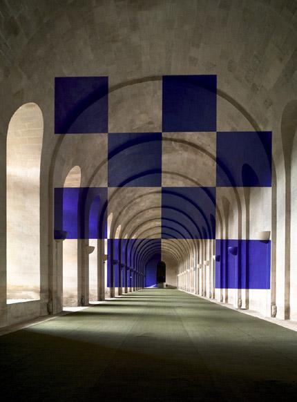 2006-Huit-carres-(Versailles-France)-Felice-Varini