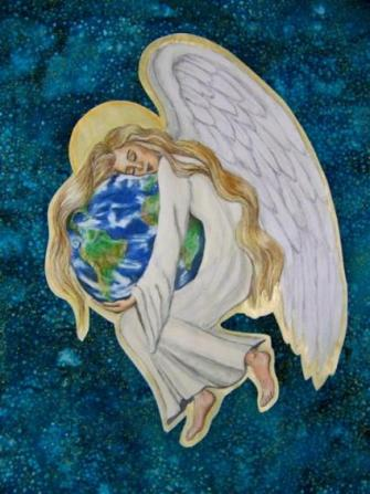 'Earth Angel', by Margot Slowick, The Global Art Project for Peace 2014.