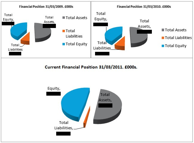 Chart 6: Tate Financial Positions, 2009, 2010, 2011. © Gil Dekel.