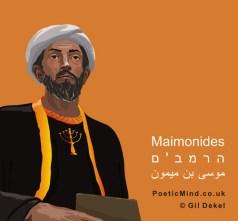 Portrait of Rambam Maimonides (art: © Gil Dekel)
