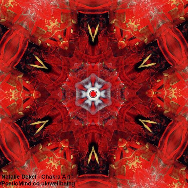 Chakra Art (#21) - by Natalie Dekel. Encaustic Wax technique.
