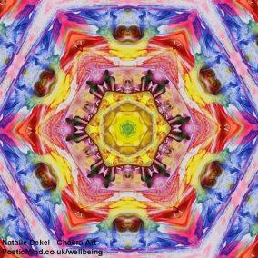 Chakra Art (#25) - by Natalie Dekel. Encaustic Wax technique.