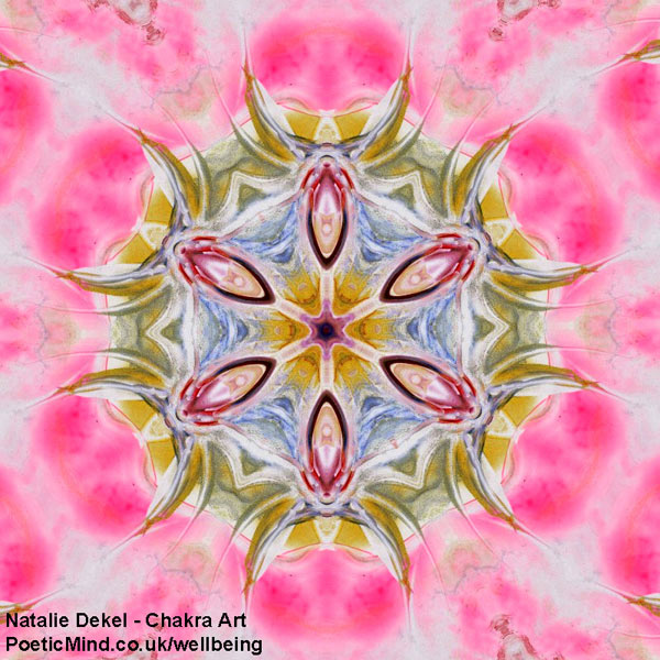 Chakra Art (#26) - by Natalie Dekel. Encaustic Wax technique.