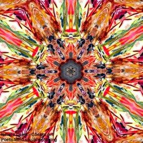 Chakra Art (#34) - by Natalie Dekel. Encaustic Wax technique.