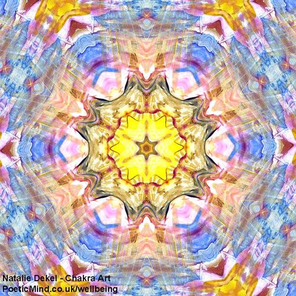 Chakra Art (#37) - by Natalie Dekel. Encaustic Wax technique.