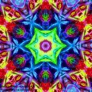 Chakra Art (#46) - by Natalie Dekel. Encaustic Wax technique.