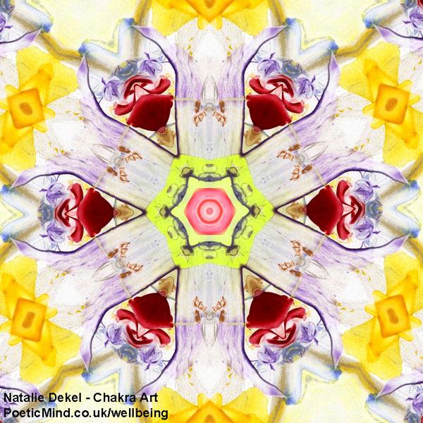 Chakra Art (#73) - by Natalie Dekel. Encaustic Wax technique.