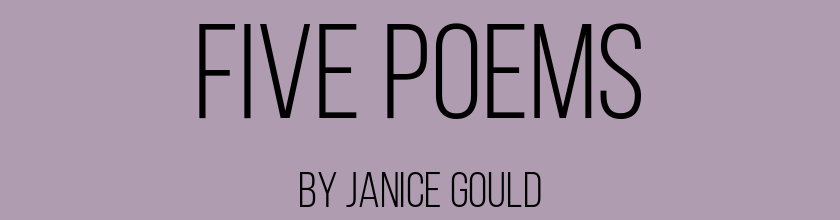 Five Poems by Janice Gould
