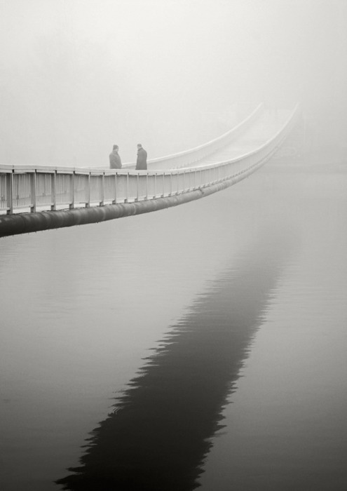 Winter Bridge in the Fog