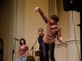 Sara Wintz, Rodrigo Toscano, Eddie Hopely