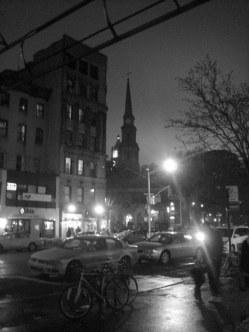 St. Mark's from across 2nd Ave. (c) Greg Fuchs, 2011