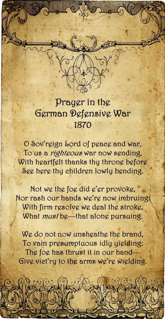 Prayer in the German Defensive War2