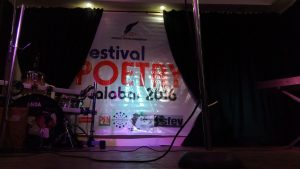 The state of the stage on the first day of the Festival (JHF Centre, Calabar)