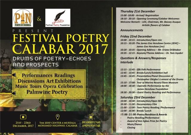 Festival Poetry Calabar 2017