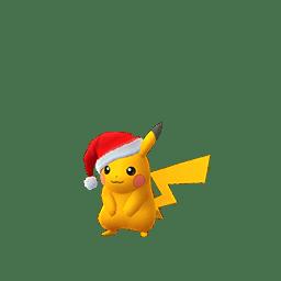 Pikachu con il berretto di Babbo Natale