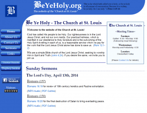 Be Ye Holy - The website of the Church at St. Louis