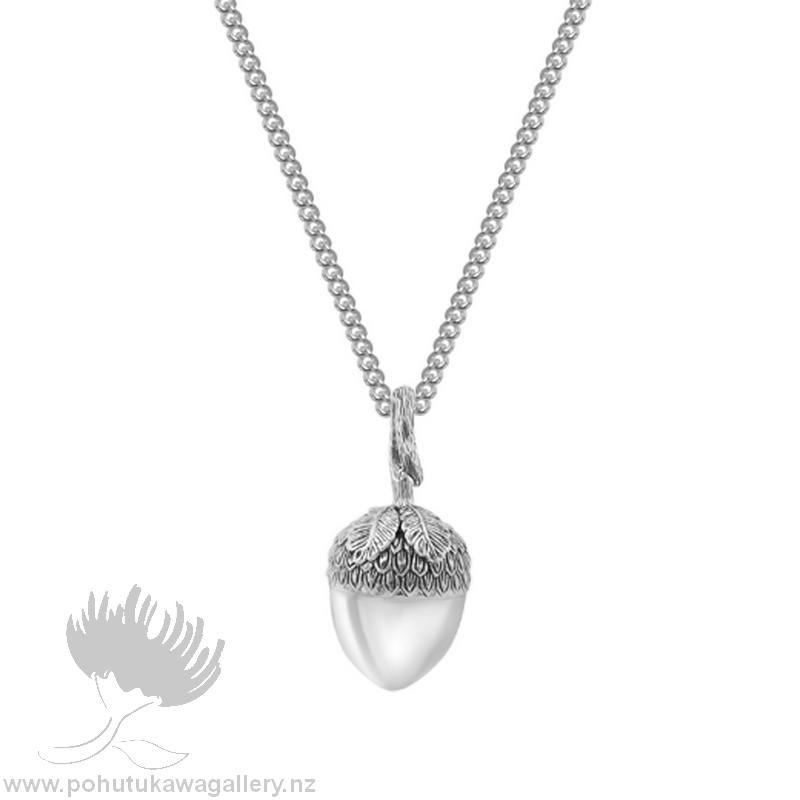 friends and mantra for acorn sterling necklace pendant gift silver family