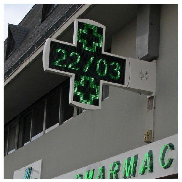 Croix de pharmacie novelight à diodes programmables