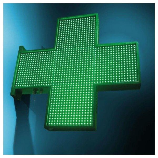Une croix pharmacie urbilight à diodes programmable sans déport