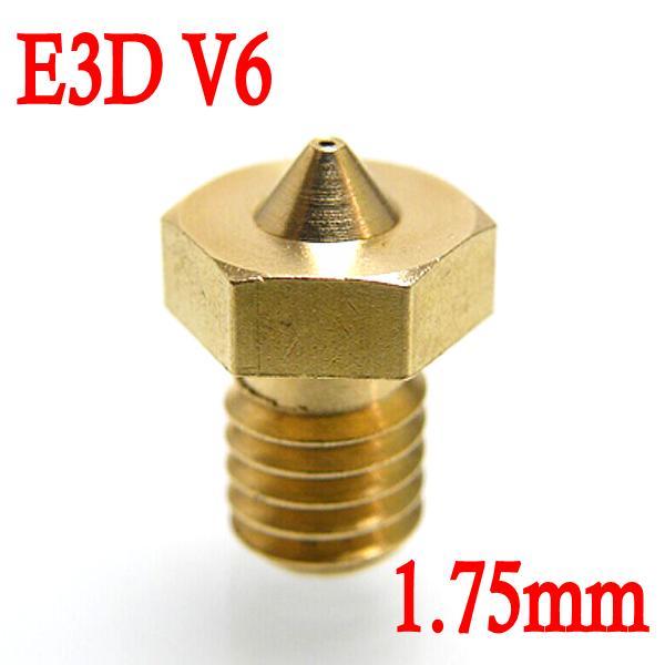 Ugello Estrusore in Ottone 0.2mm E3DV6 per Filamenti da 1.75mm per Stampante 3D