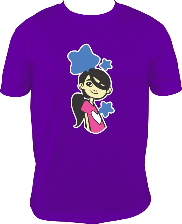 Purple When My Tummy Hurts Character Toddler Youth and Adult Tee