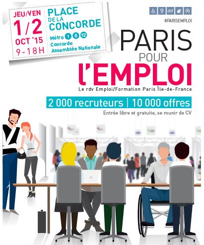 """Point Bleu présent à """"Paris Pour l'Emploi"""" les 1er et 2 octobre 2015"""