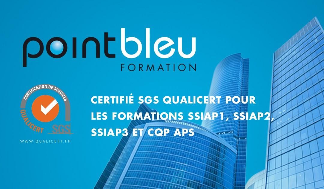 La certification SGS Qualicert de Point Bleu Formation renouvelée en 2017 pour 3 ans