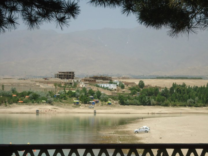 View from a restaurant in Qargha