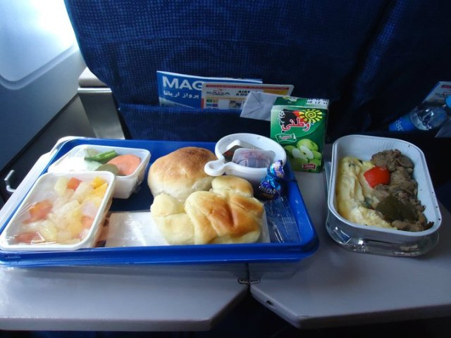 Breakfast on Ariana Airlines