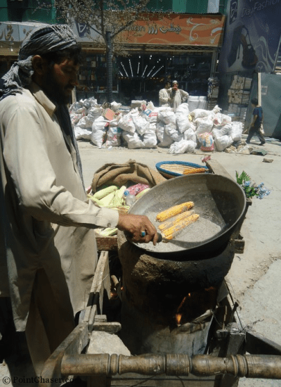 Corn Vendor in Lesse Maryam, Kabul