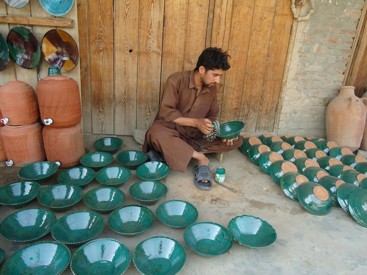Signature hand-painted pottery of Istalif