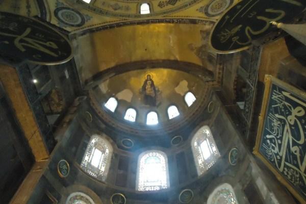 Hagia Sophia Ceiling Painting Jesus and Mary
