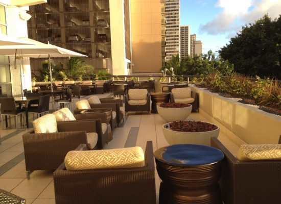 Regency Club outdoor seating area