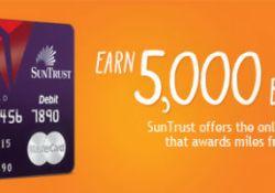 Mile-earning debit cards Suntrust Delta Skymiles Debit Card