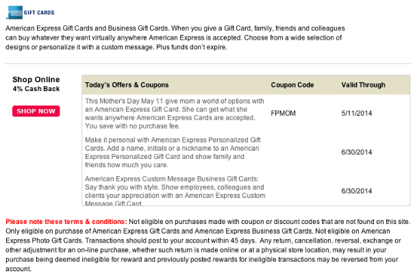 American Express Giftcards LuckyRewards