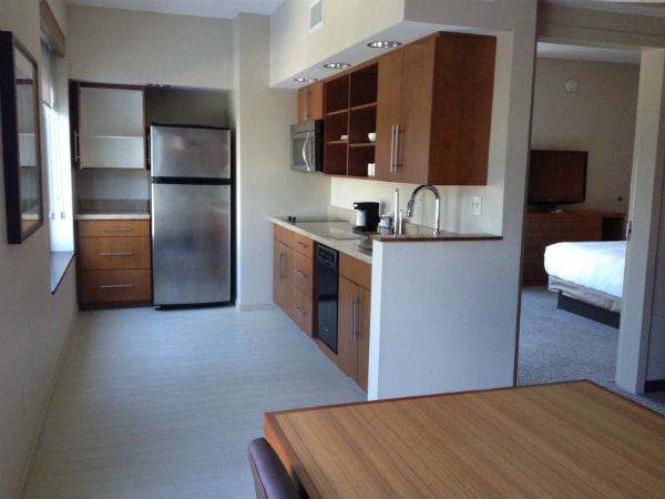 Hyatt Place LAX Boardroom Suite Kitchen Review