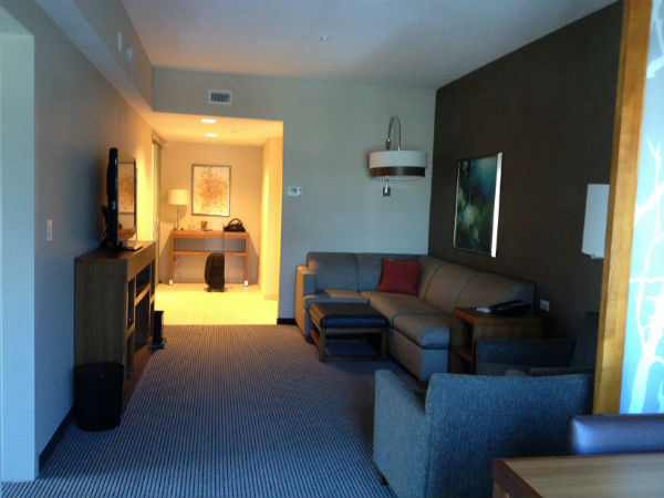 Review: Hyatt Place LAX Boardroom Suite Living Room