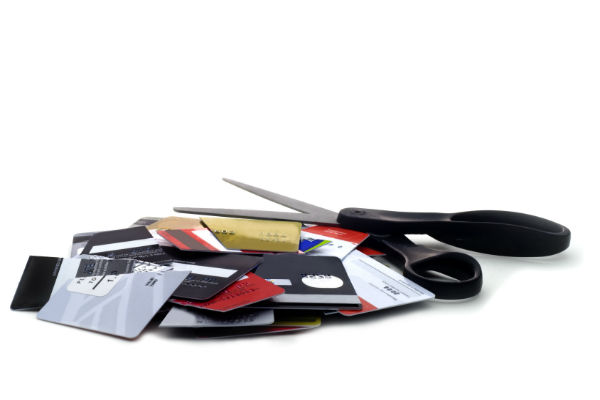 Credit card stack scissors