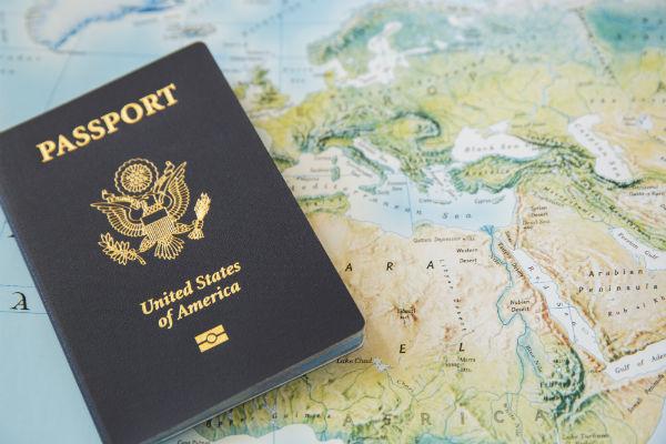 Travel pasport map