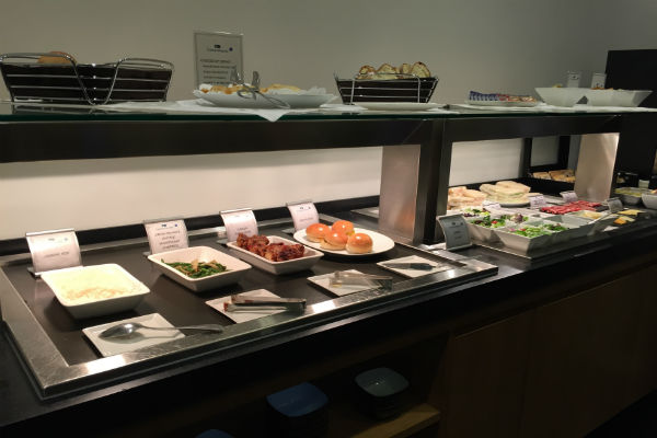 Cathay Pacific Business Class Lounge SFO Buffet