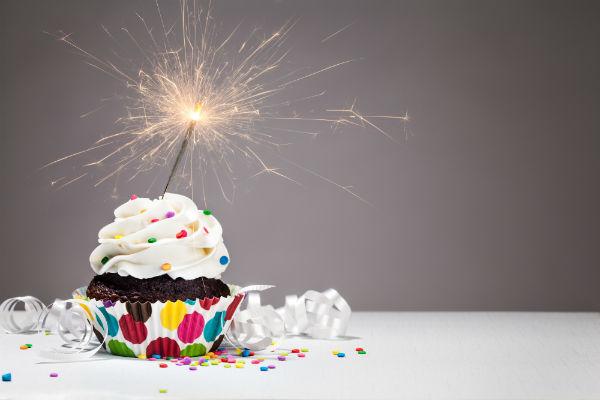 Blog anniversary cupcake