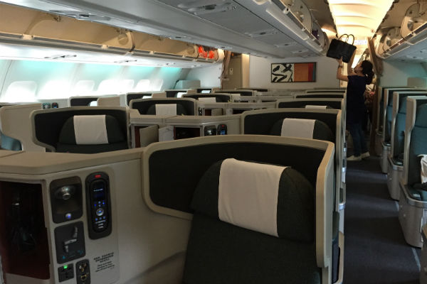 Cathay Pacific A330-300 Business Class Hong Kong to Singapore