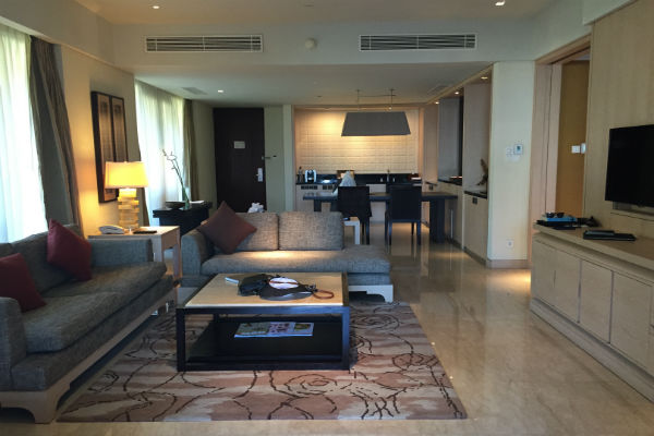 Conrad Bali Pool Suite living room