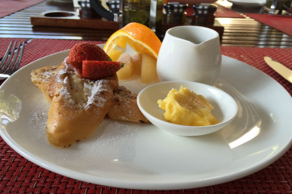 French Toast at Conrad Bali RIN