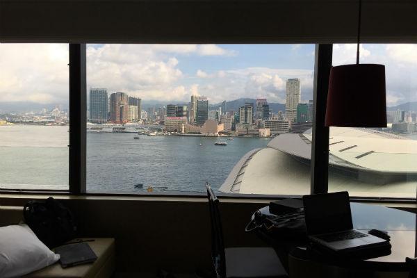 View Grand Deluxe Harbour Room Grand Hyatt Hong Kong