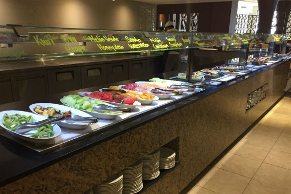 Hyatt Ziva Los Cabos La Plaza Buffet Fruit and Salad station