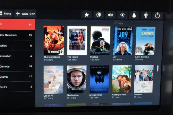 AirBerlin Business Class A330 In-flight Entertainment SFO to DUS